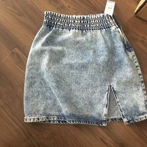 Urban outfitters denim skirt with elastic waist